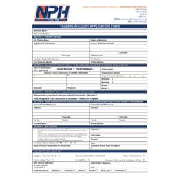 Account Application Form