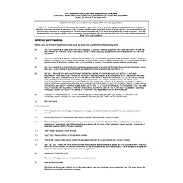 CPA Consumer Conditions – Plant supplied without an Operator