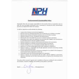 NPH Environmental & Sustainability Policy