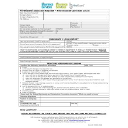 Hireguard Insurance Request Form