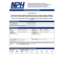 Employment Online Application Form