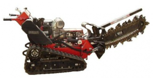 Tracked Pedestrian Trencher