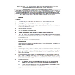 CPA Consumer Conditions – Plant supplied with an Operator