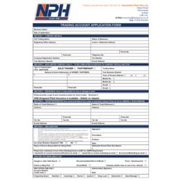Account Application Form (GDPR) PDF Version